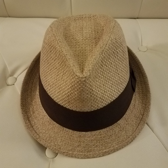 cd337364 Zara Accessories | Summer Double Straw Fedora Hat W Rasta Band ...